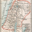Stock Photo: Map of Palestine the time of Jesus Christ and the Apostles. The Bible. Germany, circa 1895
