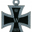 "Iron Cross (Prussia, 1813). Publication of the book ""Meyers Konversations-Lexikon"", Volume 7, Leipzig, Germany, 1910 — Stock Photo"