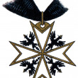 "Stock Photo: Order of Saint John (Bailiwick of Brandenburg), (Prussia, 1099, restored in 1852). Publication of book ""Meyers Konversations-Lexikon"", Volume 7, Leipzig, Germany"