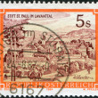 AUSTRIA - CIRCA 1984: A stamp printed in Austria, shows the Benedictine Abbey of St. Paul, Levanttal, circa 1984 - Stock Photo
