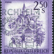 Stock Photo: AUSTRI- CIRC1974: stamp printed in Austria, shows city of Murau, Styria, circ1974