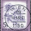 AUSTRI- CIRC1973: stamp printed in Austria, is shown Aggstein Castle, circ1973 — Stock Photo #12086873