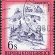 AUSTRIA - CIRCA 1975: A stamp printed in Austria, is shown Lindauer Hut, Vorarlberg, circa 1975 — Stock Photo