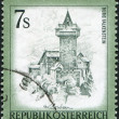 AUSTRIA - CIRCA 1973: A stamp printed in Austria, shows the Falkenstein Castle, Carinthia, circa 1973 - Stock Photo