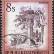 Stock Photo: AUSTRI- CIRC1976: stamp printed in Austria, is shown Votive column, Reiteregg, Styria, circ1976
