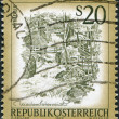 AUSTRIA - CIRCA 1977: A stamp printed in Austria, shows the Myra Falls (Lower Austria), circa 1977 — Stock Photo