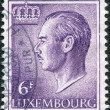 LUXEMBOURG - CIRCA 1965: A stamp printed in Luxembourg, shows Grand Duke Jean of Luxembourg, circa 1965 - Stock Photo