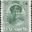LUXEMBOURG - CIRCA 1921: A stamp printed in Luxembourg, shows Charlotte, Grand Duchess of Luxembourg, circa 1921 - Stock Photo
