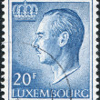 LUXEMBOURG - CIRCA 1975: A stamp printed in Luxembourg, shows Grand Duke Jean of Luxembourg, circa 1975 - 图库照片