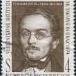 ������, ������: AUSTRIA CIRCA 1974: A stamp printed in Austria is shown Ferdinand Ritter von Hebra the founder of modern dermatology circa 1974