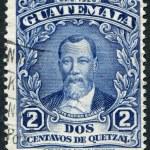 Постер, плакат: GUATEMALA CIRCA 1926: A stamp printed in the Guatemala shows Justo Rufino Barrios circa 1926