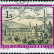 AUSTRIA - CIRCA 1989: A stamp printed in Austria, is shown Wettingen-Mehrerau Abbey, circa 1989 — Stock Photo