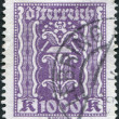 Stock Photo: AUSTRI- CIRC1923: stamp printed in Austria, shows Symbols of Labor and Industry - hammer and pliers, circ1923
