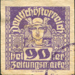 AUSTRIA - CIRCA 1921: A stamp printed in Austria, Newspaper Stamps, shows Mercury, circa 1921 — Stock Photo