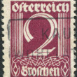 Stock Photo: AUSTRI- CIRC1925: stamp printed in Austria, shows figure, price of stamps, circ1925
