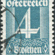 Stock Photo: AUSTRI- CIRC1927: stamp printed in Austria, shows figure, price of stamps, circ1927