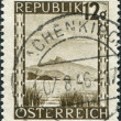 AUSTRI- CIRC1945: stamp printed in Austria, is shown Wolfgangsee near Salzburg, circ1945 — Stock Photo #12087027