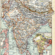 "Stock Photo: Map of India. Publication of book ""Meyers Konversations-Lexikon"", Volume 7, Leipzig, Germany, 1910"