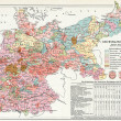 "Results of elections to Reichstag from 1871 to 1916 (in 1916 and updated additional insert in book). Publication of book ""Meyers Konversations — Stock Photo #12087054"