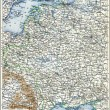 "Map of the European part of Russian Empire. Publication of the book ""Meyers Konversations-Lexikon"", Volume 7, Leipzig, Germany, 1910 — ストック写真"