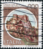 A stamp printed in Italy, shows the Cerro al Volturno, Isernia, circa 1980 — Stock Photo