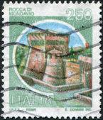 A stamp printed in Italy, shows the Rocca di Mondavio, circa 1980 — Stock Photo