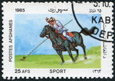 A stamp printed in the Afghanistan shows Buzkashi, circa 1985 — Stock Photo