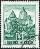 A stamp printed in Austria, is shown Burg Heidenreichstein, circa 1957 — Stock Photo