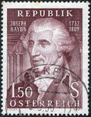 A stamp printed in Austria, shows Franz Joseph Haydn, Composer, circa 1959 — Stock Photo