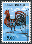 A stamp printed in the Finland, shown Kirvu Weather Vane, circa 1977 — Stock Photo