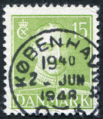 DENMARK - CIRCA 1942: A stamp printed in the Denmark, depicts King Christian X, circa 1942 — Stock Photo