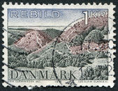A stamp printed in the Denmark, shows Rebild National Park, circa 1972 — Stock Photo