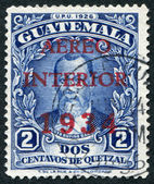 A stamp printed in the Guatemala, shows Justo Rufino Barrios (airmail stamp in 1934), circa 1926 — Stock Photo