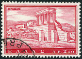 GREECE - CIRCA 1961: A stamp printed in Greece, shows the ruins of Knossos Minoan Palace, circa 1961 — Stock Photo