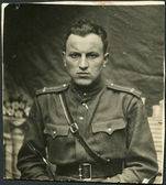 USSR - CIRCA 1943: Photo taken in the USSR, the portrait of an officer of the Red Army, circa 1943 — Stock Photo