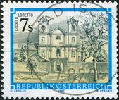 年頃 1987 年 - オーストリア: オーストリアでは、印刷スタンプを示します basilika マリア loretto、年頃 1987 年 — ストック写真