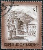 AUSTRIA - CIRCA 1975: A stamp printed in Austria, is shown Kahlenbergerdorf, Vienna, circa 1975 — Stock Photo