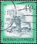 AUSTRIA - CIRCA 1976: A stamp printed in Austria, shows the Windmill, Retz, circa 1976 — Stock Photo
