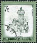 AUSTRIA - CIRCA 1973: A stamp printed in Austria, shows the Falkenstein Castle, Carinthia, circa 1973 — Stock Photo