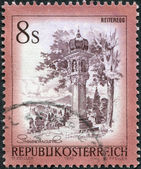 AUSTRIA - CIRCA 1976: A stamp printed in Austria, is shown Votive column, Reiteregg, Styria, circa 1976 — Stock Photo