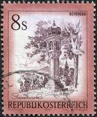 AUSTRIA - CIRCA 1976: A stamp printed in Austria, is shown Votive column, Reiteregg, Styria, circa 1976 — Stock Photo