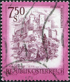 AUSTRIA - CIRCA 1977: A stamp printed in Austria, shows the Hohensalzburg Castle, circa 1977 — Stock Photo
