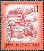 AUSTRIA - CIRCA 1976: A stamp printed in Austria, shows the Old Town, Enns, circa 1976 — Stock Photo