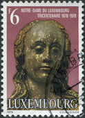 LUXEMBOURG - CIRCA 1978: A stamp printed in Luxembourg, shows Our Lady of Luxembourg, in Notre-Dame Cathedral, circa 1978 — Stock Photo