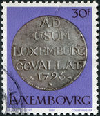 LUXEMBOURG - CIRCA 1981: A stamp printed in Luxembourg, shows Emperor Francois II, 72 sol, 1795, circa 1981 — Stock Photo