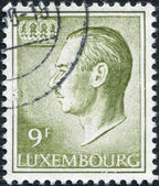 LUXEMBOURG - CIRCA 1975: A stamp printed in Luxembourg, shows Grand Duke Jean of Luxembourg, circa 1975 — Stock Photo