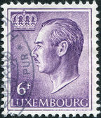 LUXEMBOURG - CIRCA 1965: A stamp printed in Luxembourg, shows Grand Duke Jean of Luxembourg, circa 1965 — Stock Photo