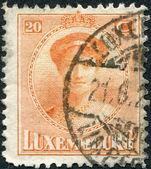 Luxemburg - ca 1922: en stämpel som tryckt i Luxemburg, visar charlotte, storhertiginnan av Luxemburg, circa 1922 — Stockfoto