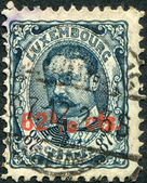LUXEMBOURG - CIRCA 1906: A stamp printed in Luxembourg, shows William IV, Grand Duke of Luxembourg, (overprint 1912), circa 1906 — Stock Photo