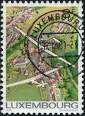 LUXEMBOURG - CIRCA 1981: A stamp printed in Luxembourg, shows Single-seater Gliders, circa 1981 — Stock fotografie